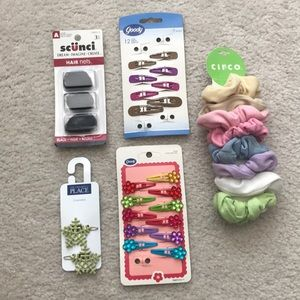 Other - Assorted Hair Accessories Pack (Clips, Ties, Nets)